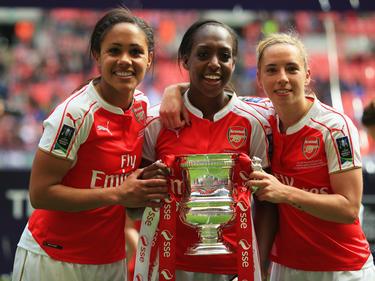 Die Ladies des FC Arsenal haben 2016 den Pokalsieg errungen. (14.05.2016)
