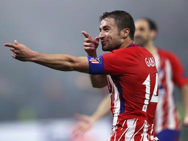 Gabi tras marcar en la final de la Europa League. (Foto: Getty)