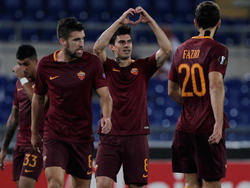 Perotti celebra su golazo en Europa League contra el Plzen. (Foto: Getty)