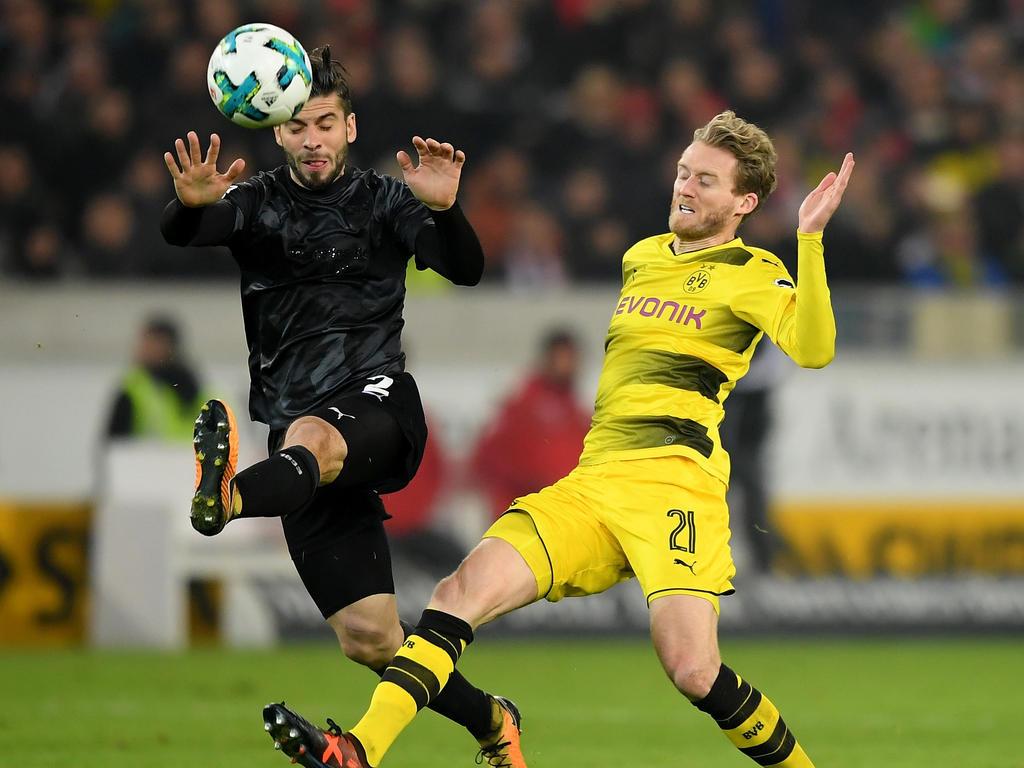 Bald Teamkollegen? Stuttgarts Insua (l.) und Dortmunds André Schürrle