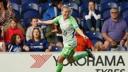 Lara Dickenmann traf für den VfL Wolfsburg