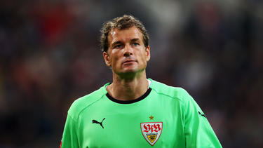 Jens Lehmann con la camiseta del Stuttgart.