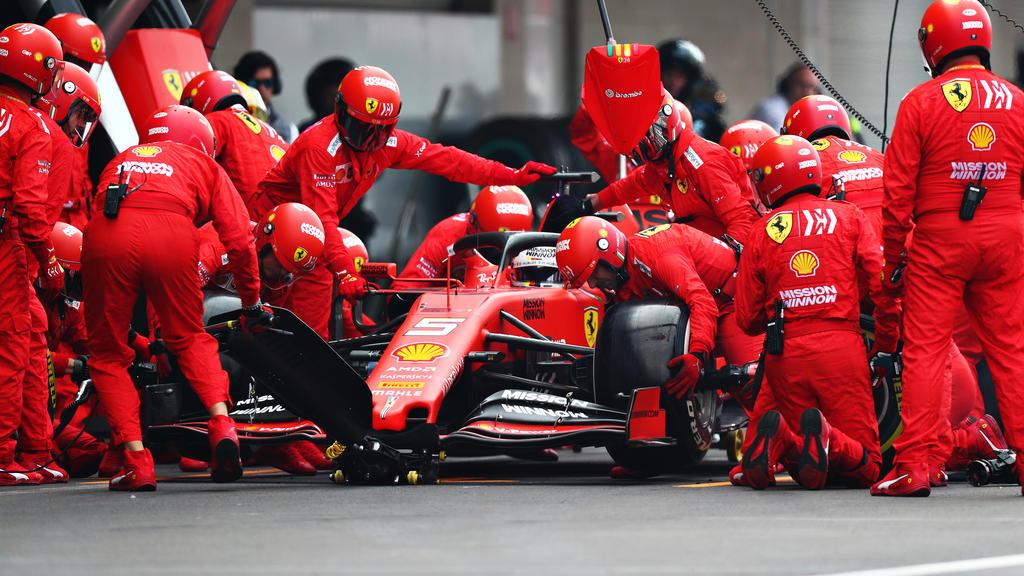 Teile von Sebastian Vettels Ferrari wurden konfisziert