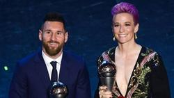 Die Favoriten: Lionel Messi (l.) und Megan Rapinoe (r.)