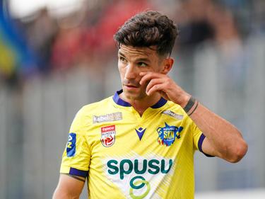 Blau-Gelb trug Daniel Luxbacher schon in St. Pölten