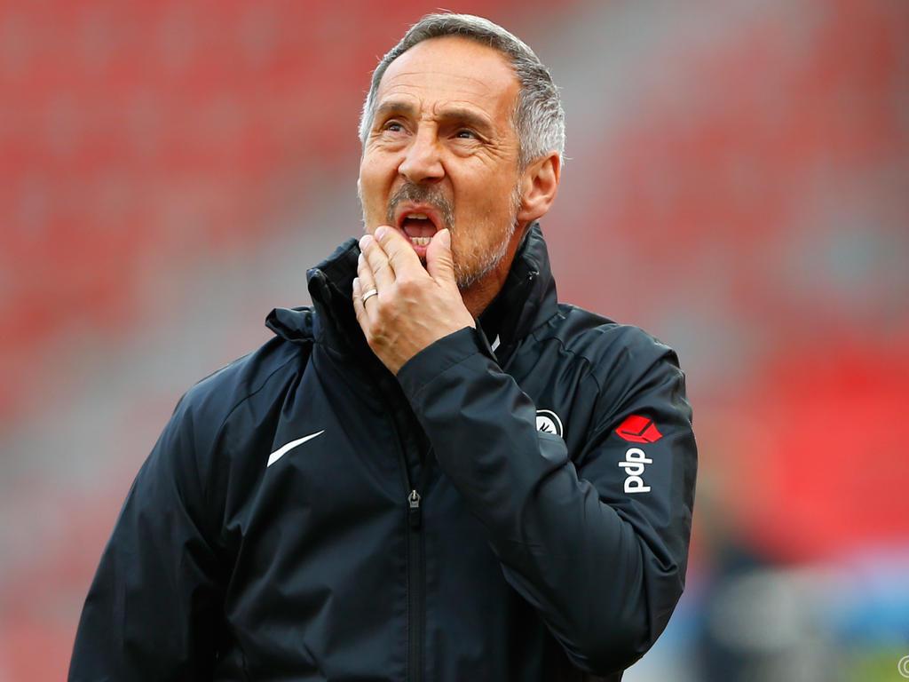 Seinen Humor hat Adi Hütter auch nach der Niederlage gegen Leverkusen nicht verloren