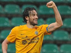 Luca Toni jubelt für Hellas Verona