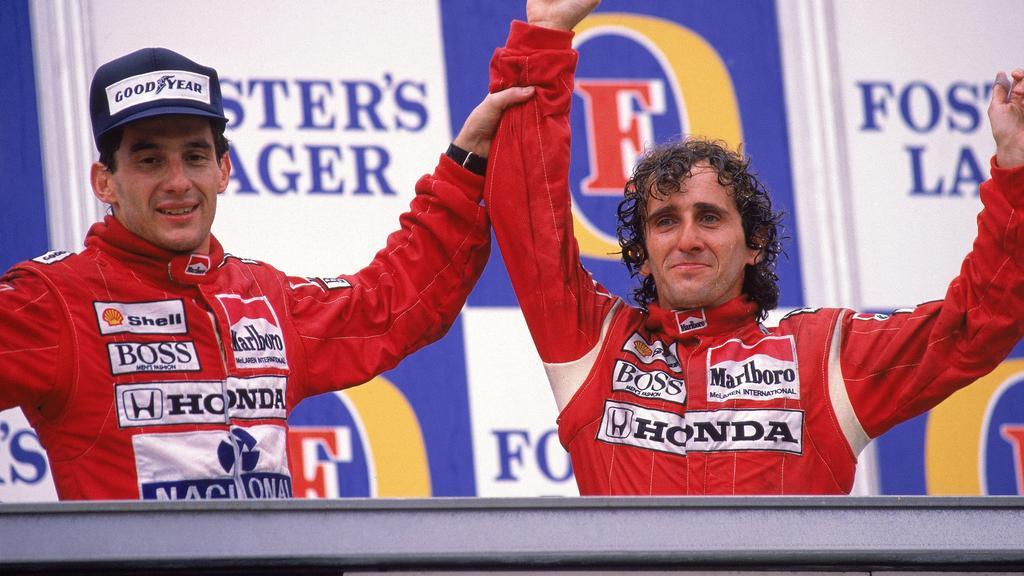 Ayrton Senna (li.): schon immer nachdenklich, 1994 auch nicht glücklich