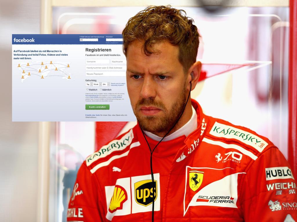 Sebastian Vettel ist bislang nicht auf Facebook vertreten