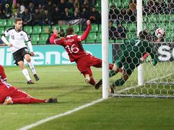 Louis Schaub erlöste das ÖFB-Team mit seinem Tor zum 1:0