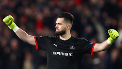 Koubek con el Rennes en la Ligue 1.