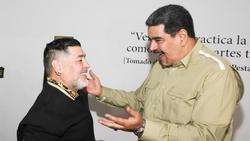 Verstehen sich blendend: Venzuelas Präsident Nicolas Maduro (r.) und Diego Maradona