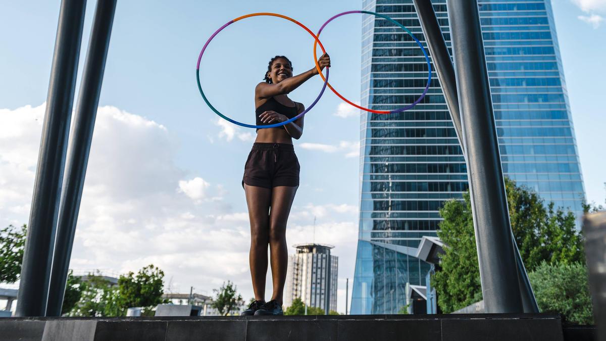 Der Hula-Hoop-Reifen markiert einen neuen Trend zum Abnehmen