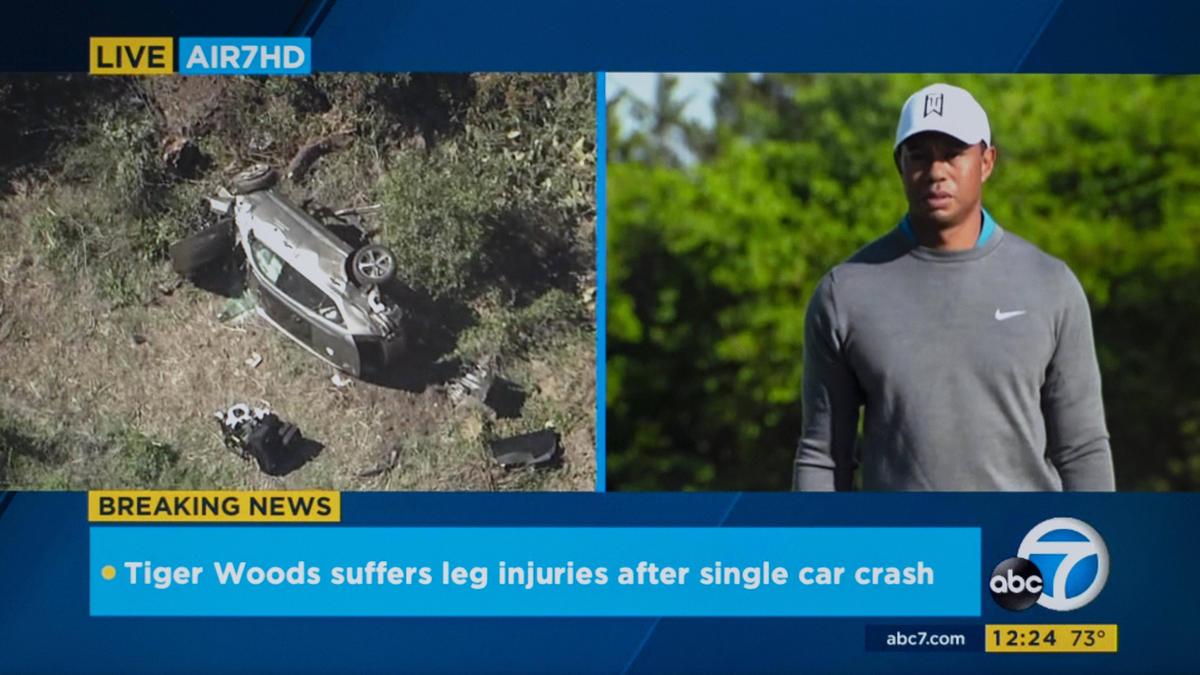 Woods verletzte sich bei dem Unfall schwer