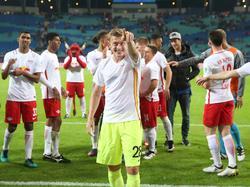 Georg Teigl wird von den Fans seines Ex-Vereins RB Leipzig gefeiert