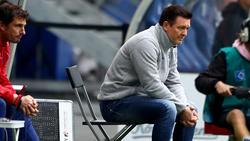 Hatte gegen Regensburg keinen Grund zur Freude:HSV-Coach Christian Titz