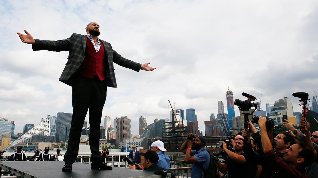 Boxer Tyson Fury liebt den großen Auftritt
