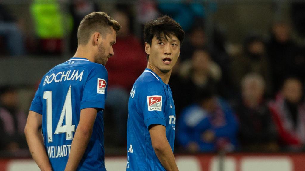Lee (r.) erzielte sein erstes Tor für Bochum