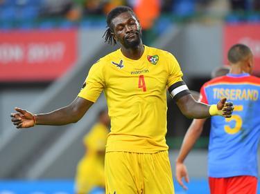 Adebayor con la camiseta de Togo.