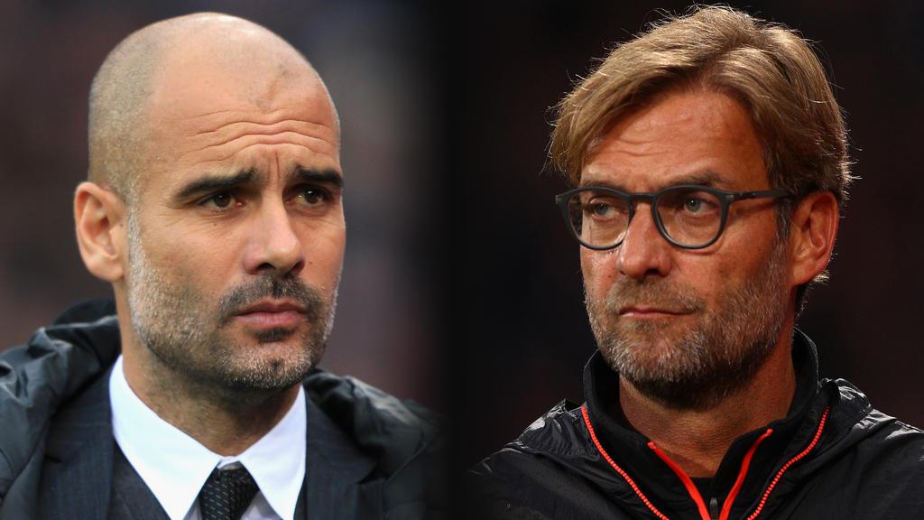 Pep Guardiola und Jürgen Klopp sind im Ranking vorne dabei