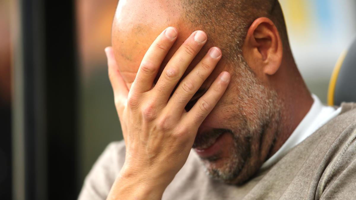 Musste mit Manchester City die erste Saisonniederlage quittieren: Pep Guardiola