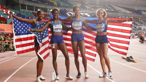 Die USA gewannen Gold in der Staffel über 4x400 Meter
