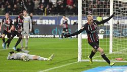 Sebastian Rode erzielte den späten Ausgleich für Eintracht Frankfurt