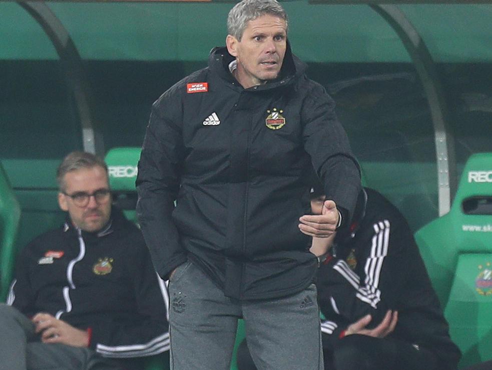 Auch Rapid-Coach Dietmar Kühbauer trauerte dem Sieg im Derby nach