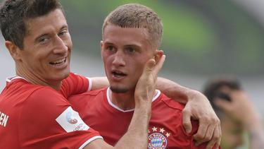 Mickaël Cuisance (re.) wechselte im Sommer 2019 zum FC Bayern