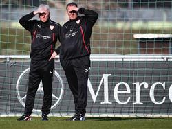 Armin Reutershahn (l.) hatte zuletzt mit Huub Stevens beim VfB Stuttgart zusammengearbeitet
