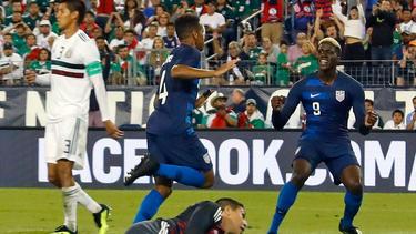 Tyler Adams celebrando su gol contra México. (Foto: Getty)