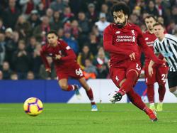 Salah participó en la goleada al equipo de Benítez. (Foto: Getty)