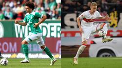 Wenn Milos Veljkovic (l.) den SV Werder verlassen sollte, könnte Timo Baumgartl als Ersatz kommen