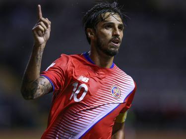 Costa Ricas Bryan Ruiz jubelt über seinen Treffer gegen Trinidad & Tobago