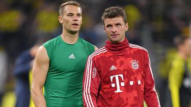 Manuel Neuer (l.) und Thomas Müller haben noch einiges zu tun