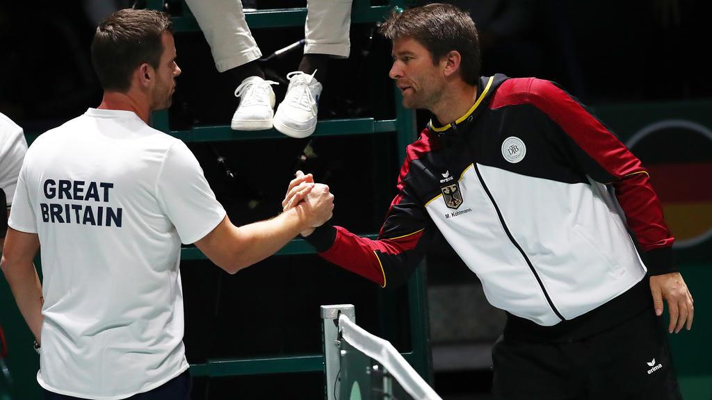 Trotz der Niederlage gegen Großbritannien sieht Michael Kohlmann (re.) die deutsche Davis-Cup-Zukunft positiv