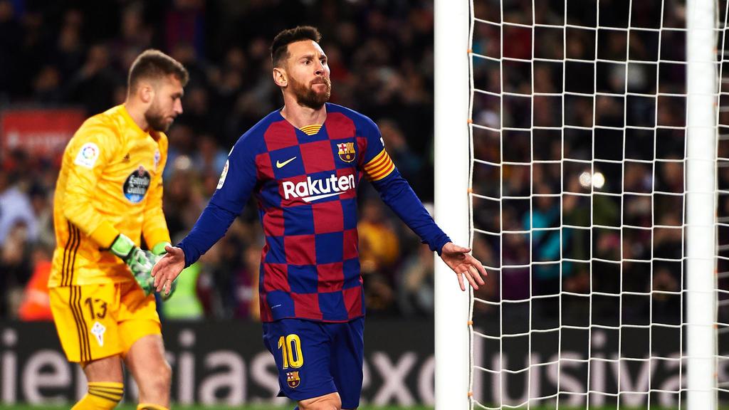 Messi erzielte drei Tore - eines per Elfmeter, zwei per Freistoß