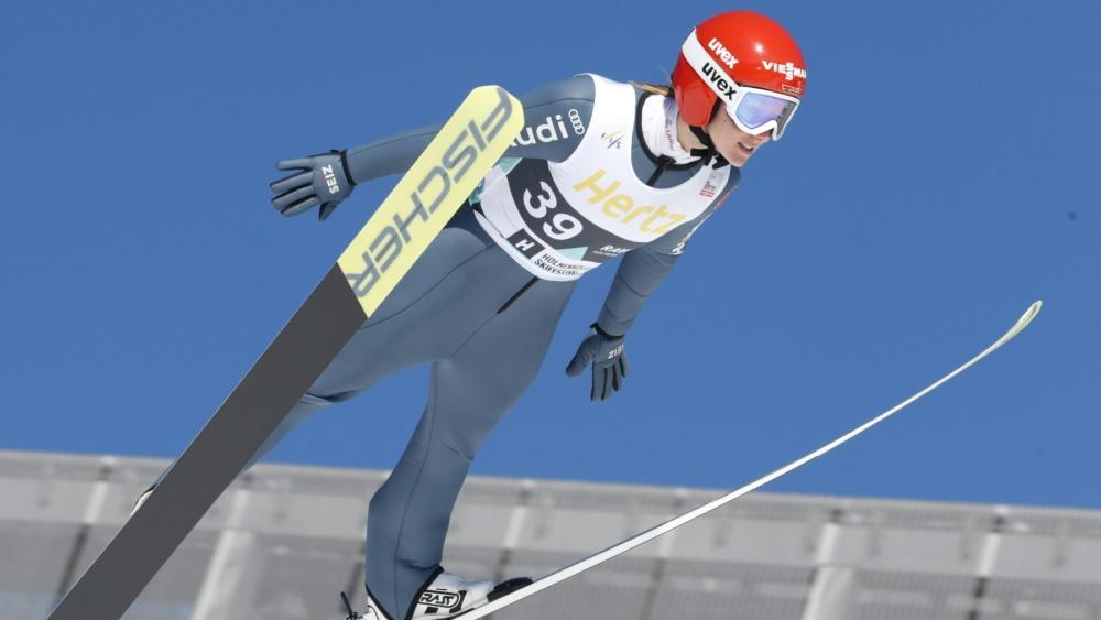 Katharina Althaus erreichte in Klingenthal Platz drei