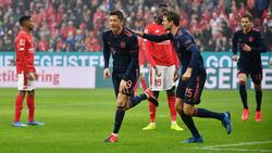Beim FC Bayern gibt es derzeit viel zu jubeln