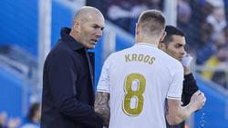 Zinédine Zidane suchte die Schuld nicht bei Toni Kroos