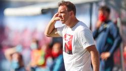 Leipzigs Trainer Julian Nagelsmann trifft mit seinem Team auf Hertha BSC