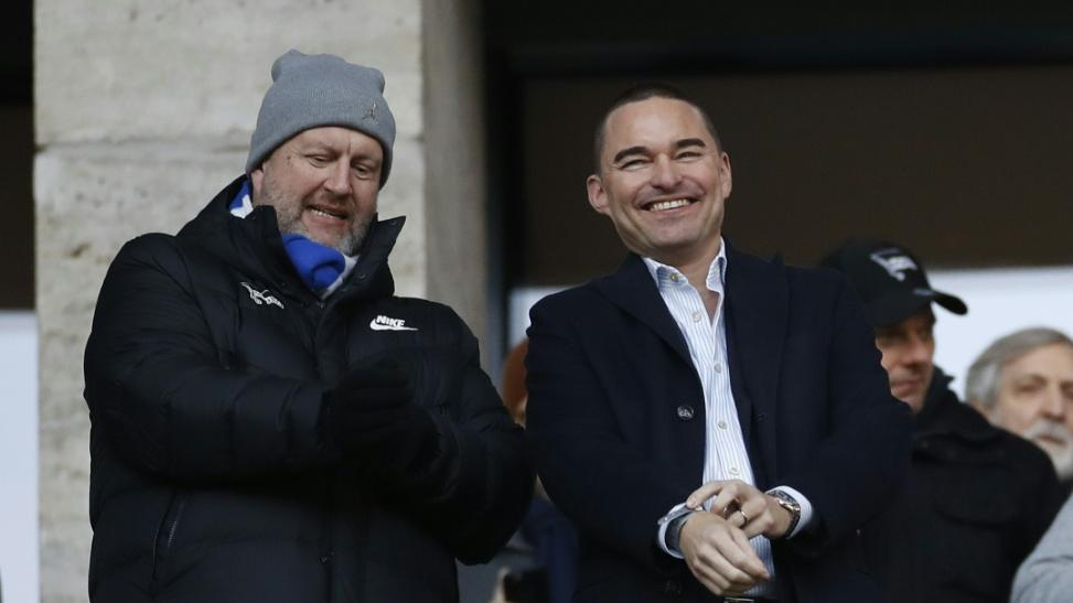 Lars Windhorst (r.) sucht für Hertha BSC einen neuen Hauptsponsor