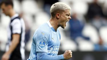 Mit Eindhoven in der Europa League: Philipp Max
