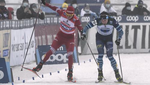 Bolshunov (l.) schlug nach seinem Konkurrenzen