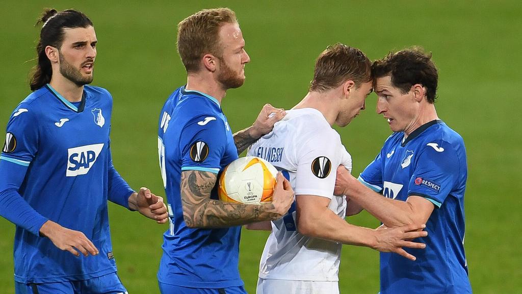 Alles Gerangel half nichts: Die TSG mit Sebastian Rudy (r.) schied aus der Europa League aus