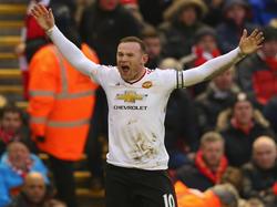 Wayne Rooney freut sich über das Goldtor gegen Liverpool