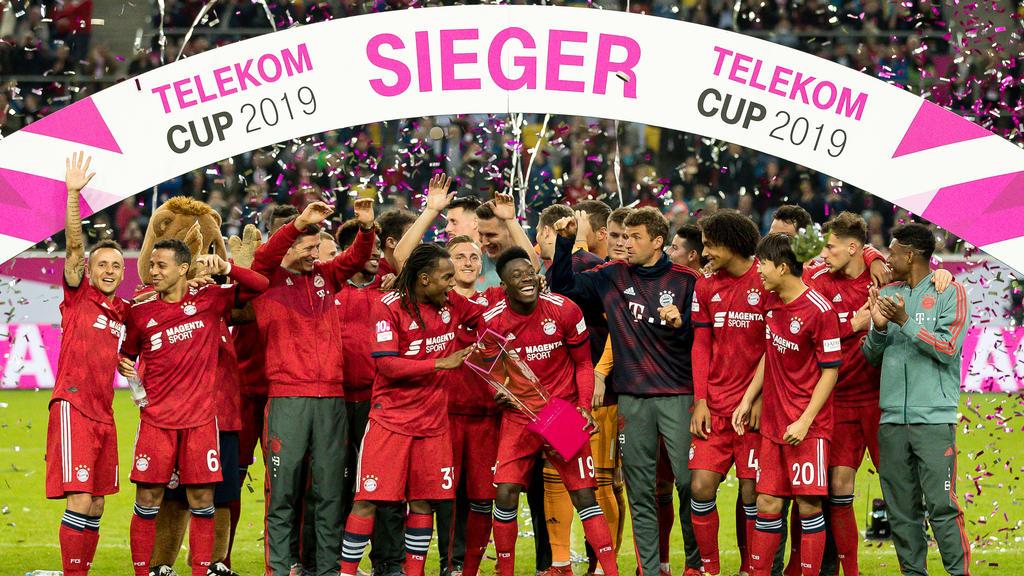 Telekom Cup 2019 mit FC Bayern, Gladbach, Hertha BSC und Fortuna Düsseldorf