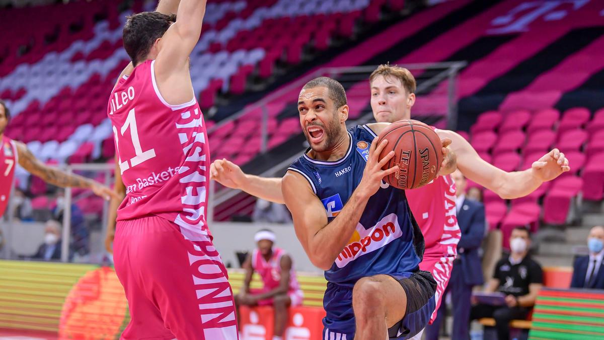 Die Hakro Merlins Crailsheim setzten sich am Sonntag bei den Telekom Baskets Bonn durch