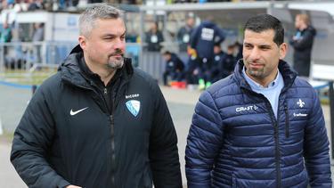 Thomas Reis (l.) und Dimitrios Grammozis kennen sich bereits seit Jahren