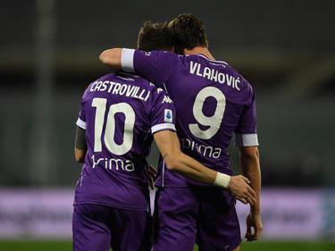 Dusan Vlahovic anotó una de las tres dianas violetas.